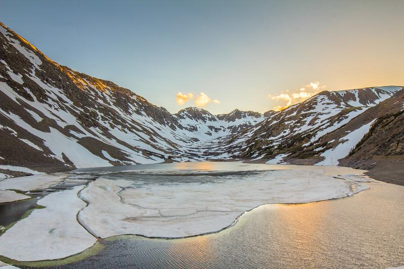 Sunset from Upper Blue Lake