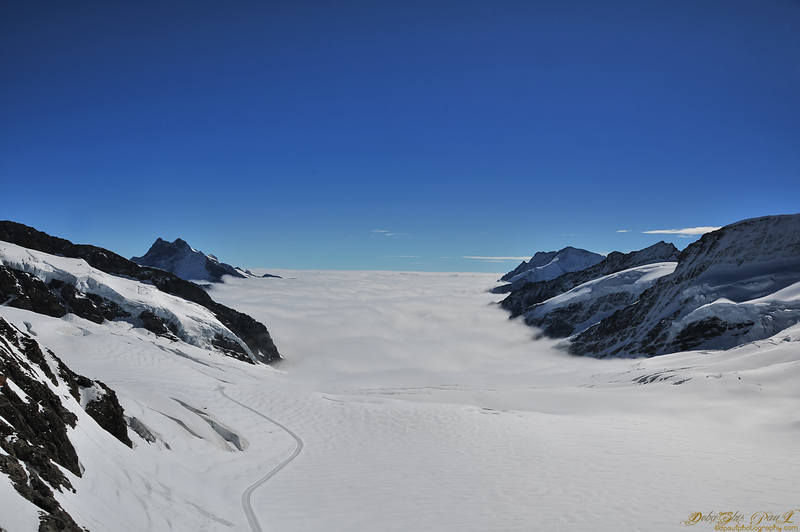 The Glacier View from Jungfrau (Top of Europe), Switzerland