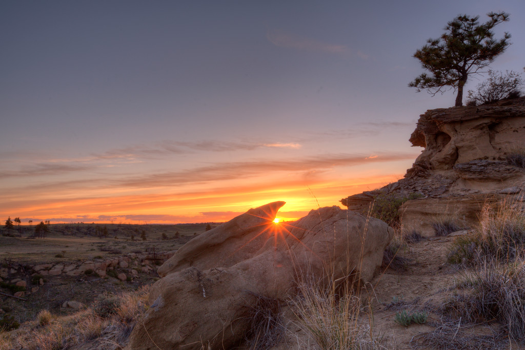 Sunset at the Yellowstone Wildlide sanctuary #2
