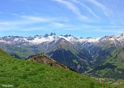 Aiguilles d'Arves from Mont Charvin, Savoie, France