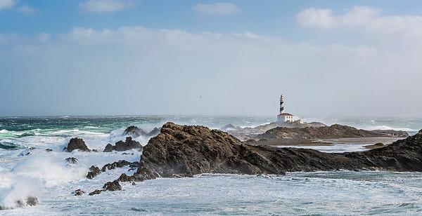 Sea storm in Menorca