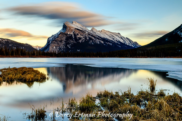 Mount Rundle Long Exposure Alberta, Canada