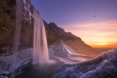 Winter at Seljalandsfoss
