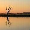 Taung Tha Man Lake at sunset, Amarapura