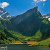 Swiss Alps beauty of Summer - Lashing green with Bright sunshine and Snowy mountains ... @ Seealpsee Lake - Ebenalp , Switzerland
