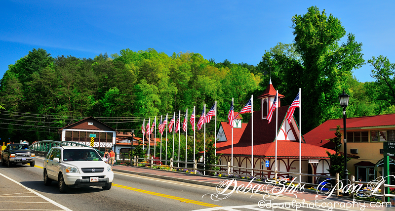 Small and beautiful german city called Helen City located on the Chattahoochee River in White County - Helen,Georgia - USA