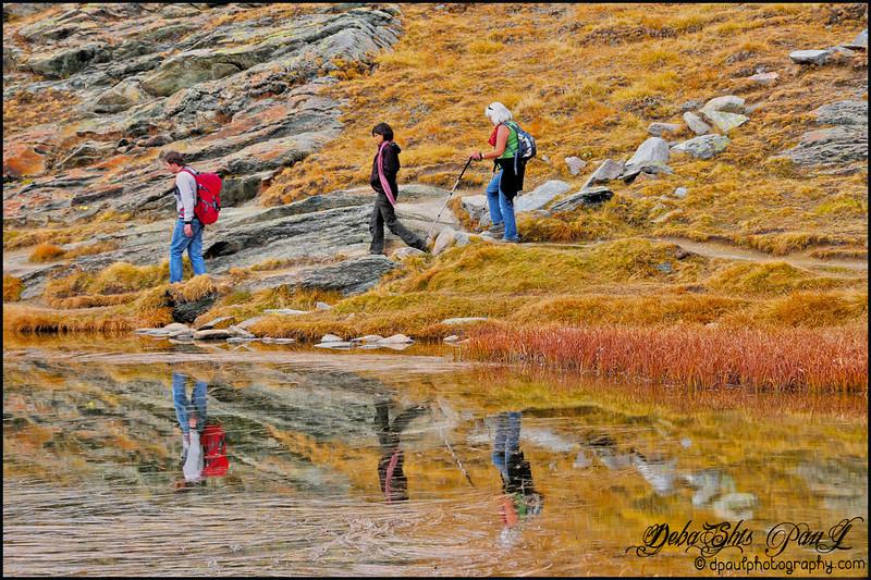 Reflection over lake Riffelsee - Gornergrat, Zermatt - Switzerland
