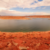 Lake Powell - The reservoir on the Colorado River, straddling the border between Utah and Arizona overlooking Rainbow Bridge - Arizona, USA