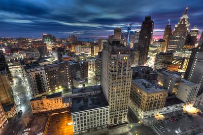 Detroit skyline taken on January 12, 2013.