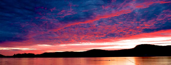 A beautiful sunset at the Sagamore resort on Lake George, NY