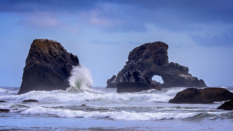 Coastal scene. Indian Beach, Ecola State Park, Oregon.
