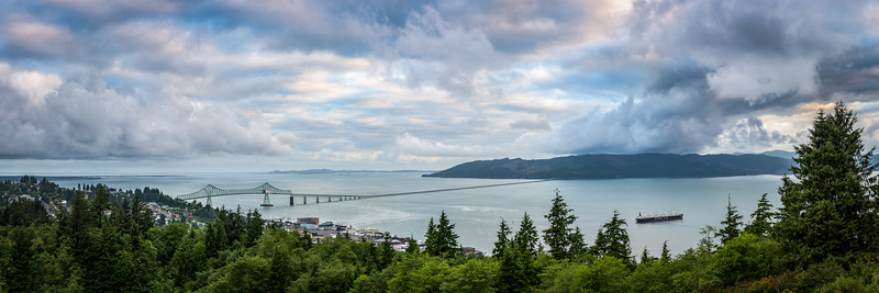 Bridge across Columbia River. Astoria, Oregon