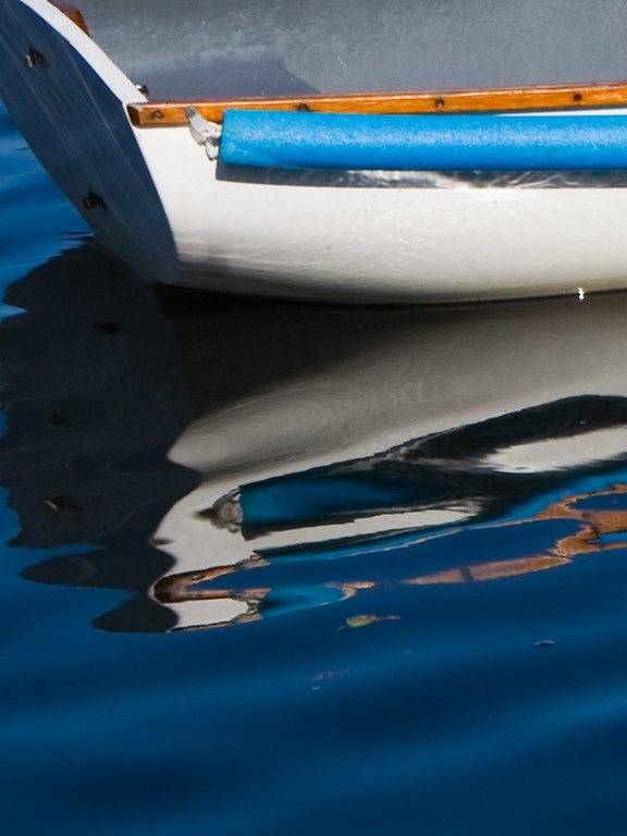 Sailboat dinghy reflection