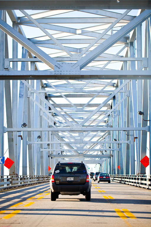 Chesapeake Bay Bridge entering the Maryland side.