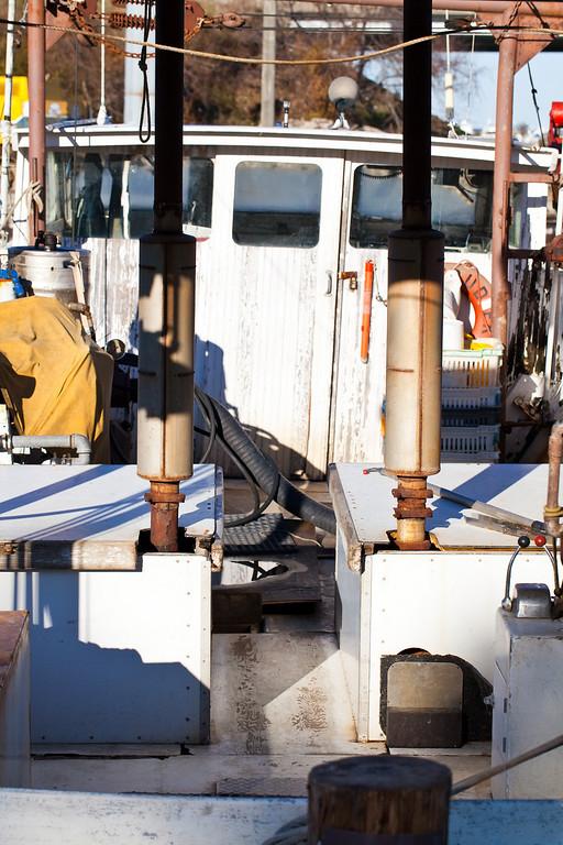 Twin engine crab boat.