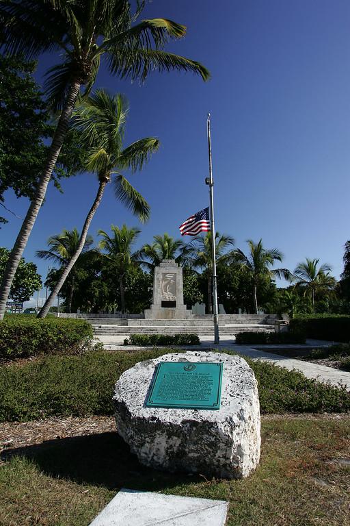 Hurricane Monument & Placque.