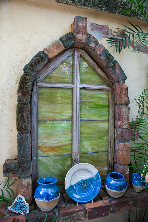 Rain Barrel Window Display
