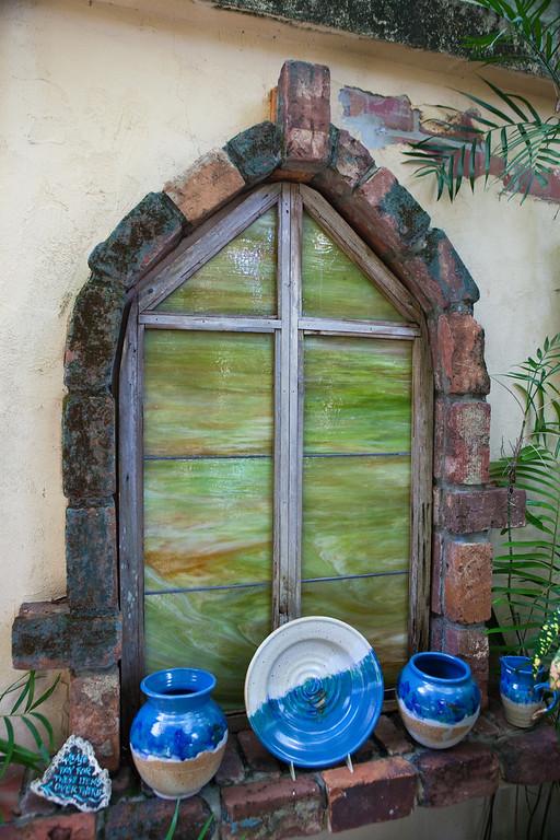 Rain Barrel Window Display