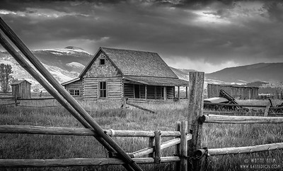 Homestead - Black & White Photography by Wayne Heim