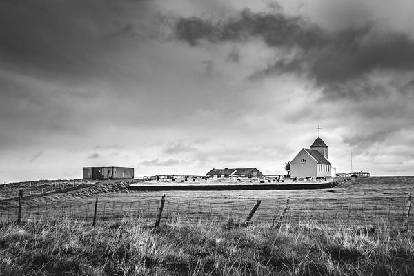 Prairie Church   Black & White Photography by Wayne Heim