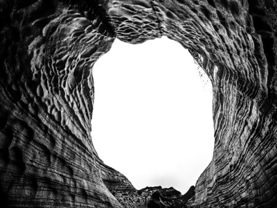 Cave Entrance   Black & White Photography by Wayne Heim
