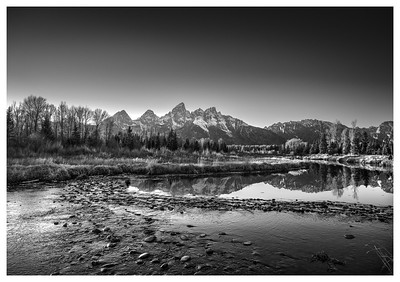 Flows From Mountains   Black and White Photography by Wayne Heim