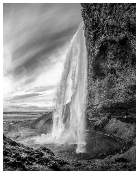 Godafoss   Black and White Photography by Wayne Heim