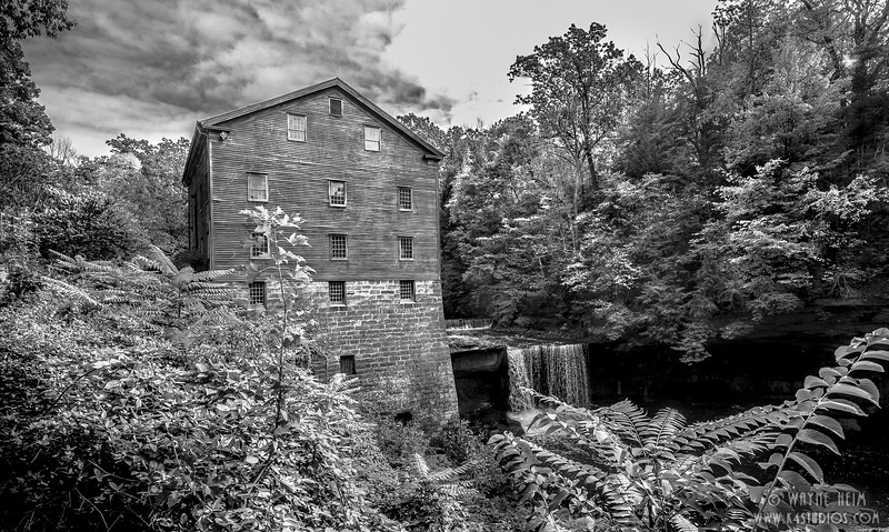 Mill House, Black and White Photography by Wayne Heim