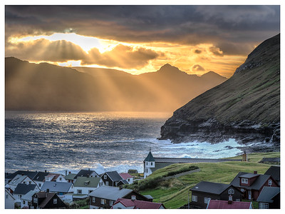 Sun Rays on the Village   Photography by Wayne Heim
