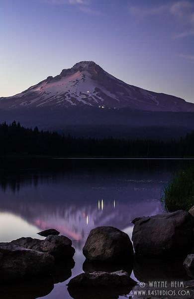 Mount Hood at Sun Set  Photography by Wayne Heim