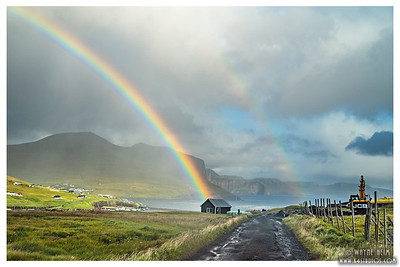 End of the Rainbow in Iceland  Photography by Wayne Heim