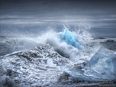 Angry Waves on Ice   Photography by Wayne Heim