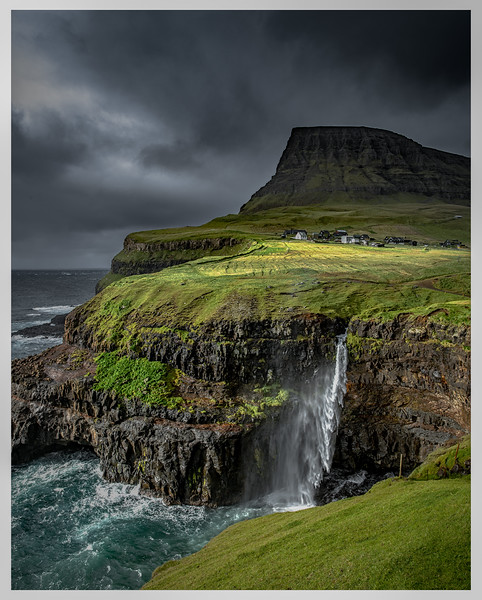 Waterfall to the Sea  Photography by Wayne Heim