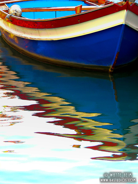 Reflected Canal Boat   Photography by Wayne Heim
