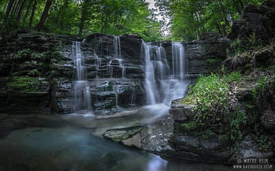 Watkins Peaceful  Falls . Photography by Wayne Heim