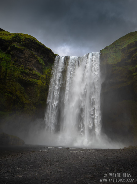 Waterfall in Iceland  Photography by Wayne Heim