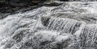 Rushing Water  Black and White Photography by Wayne Heim