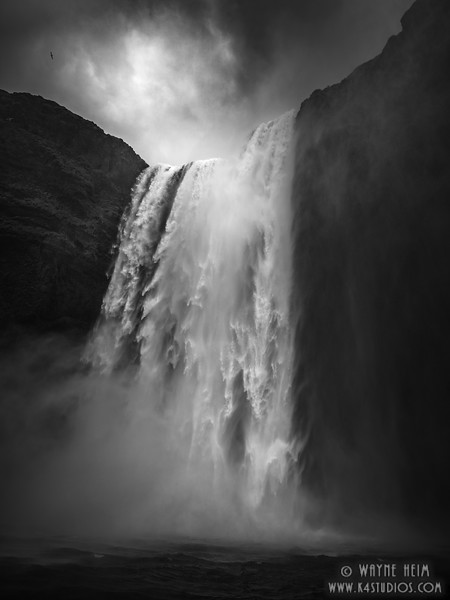 Closer to the Falls    black and White Photography by Wayne Heim