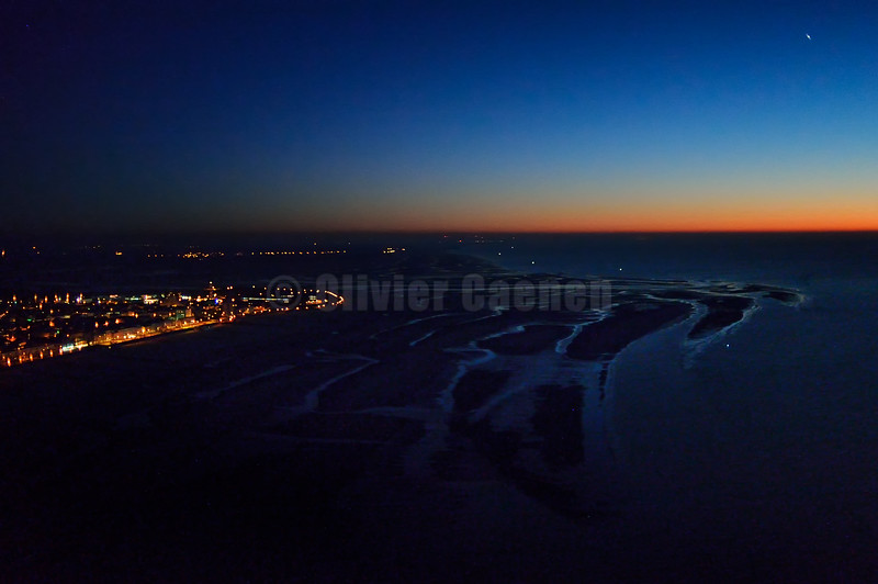 Berck sur Mer Nightscape from the sky © 2016 Olivier Caenen, tous droits reserves