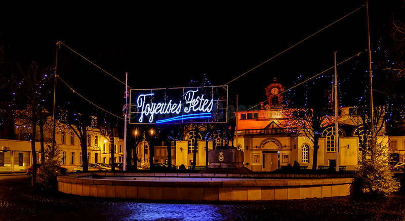 Christmas lights Montreuil sur mer© 2016 Olivier Caenen, tous droits reserves