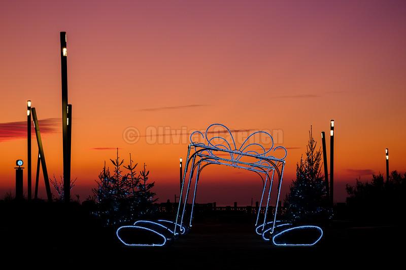 Sunset le Touquet © 2019 Olivier Caenen, tous droits reserves