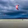 Kite-surf par vent du Nord © 2020 Eric Desaunois, tous droits reserves