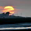 Coucher de Soleil sur la Base Nord © 2017 Olivier Caenen, tous droits reserves
