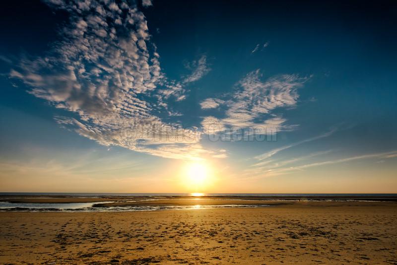 Sunset le Touquet © 2016 Olivier Caenen, tous droits reserves