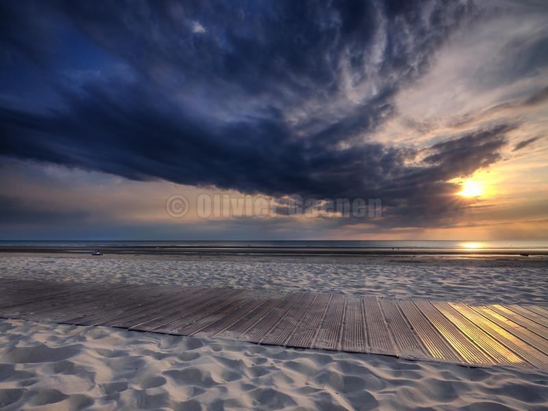 Touquet Beach Sunset 2018 © Olivier Caenen, tous droits reserves