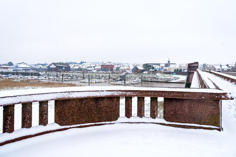 Le Touquet sous la neige © 2021 Olivier Caenen, tous droits reserves