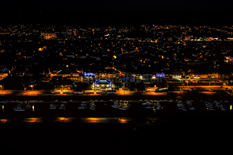 Etaples sur Mer Nightscape from the sky © 2016 Olivier Caenen, tous droits reserves