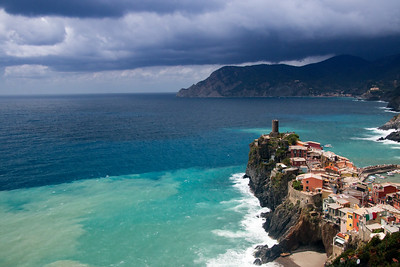 Storm approaching at Vernazza (Cinque Terre, Italy)