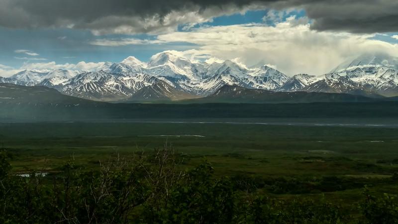 Alaska Range across the McKinley River