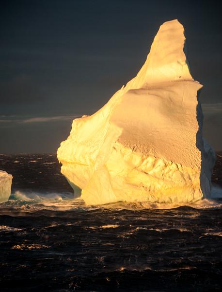 Iceberg in the sunset, Antarctic Peninsula  December 2013